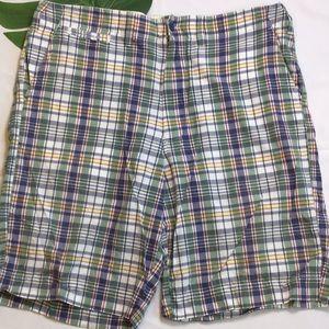 Vintage Polo Jeans Company Plaid Cotton Shorts 38